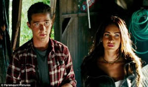 Shia and Megan in Transformers Revenge of the Fallen