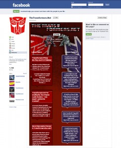 thetransformers.net Facebook Page
